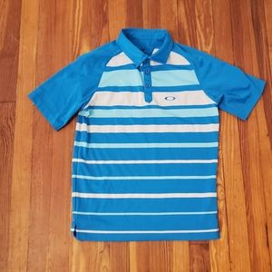 Oakley Mens Blue Golf Polo Size Small in excellent